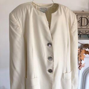 Christian Dior VTG The Suit Blazer/Jacket Beige 16